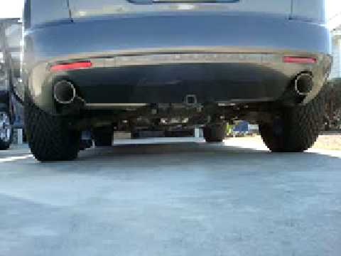 mazda cx7 magnaflow exhaust outside - YouTube
