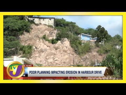 Poor Planning Impacting Erosion in Harbour Drive St. Andrew, Jamaica | TVJ News - June 5 2021