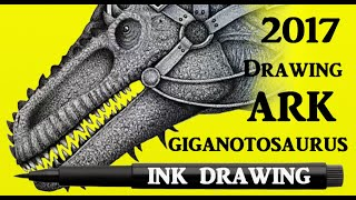 Drawing Giganotosaurus from the game ARK