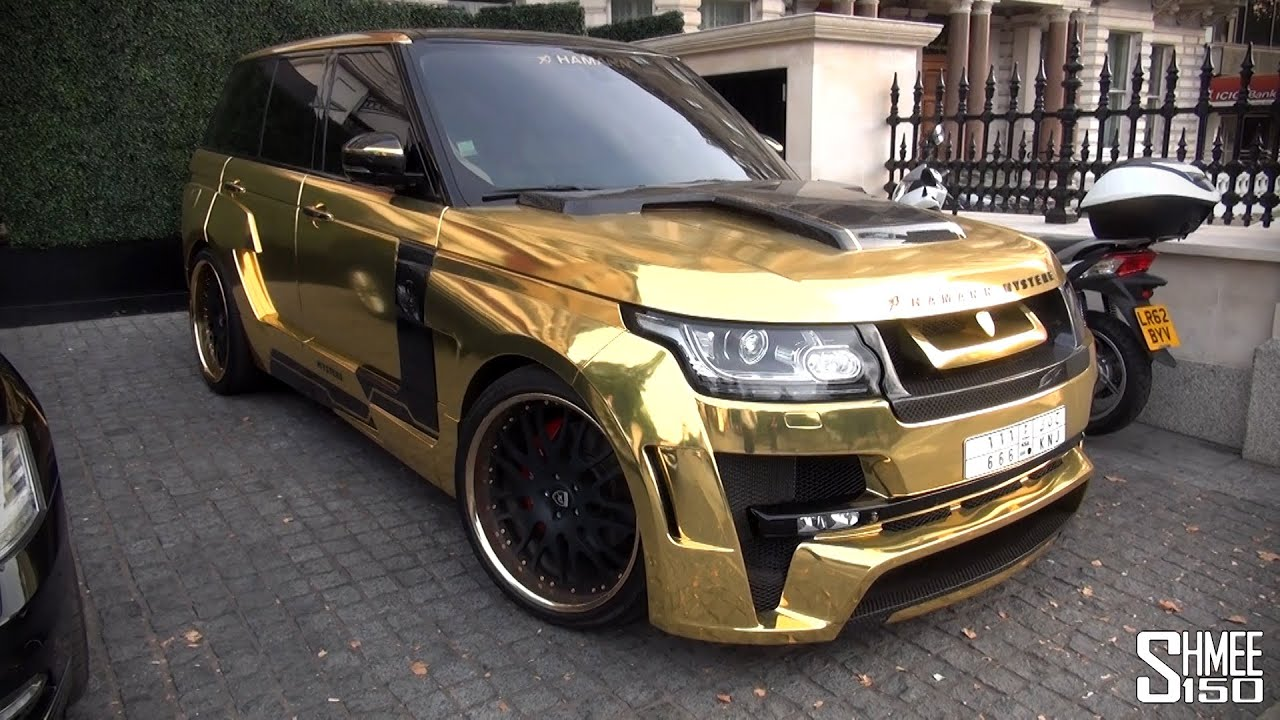 Gold Range Rover Hamann Mystere In London Youtube
