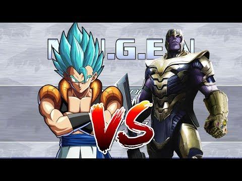Mugen | Gogeta vs Thanos - YouTube