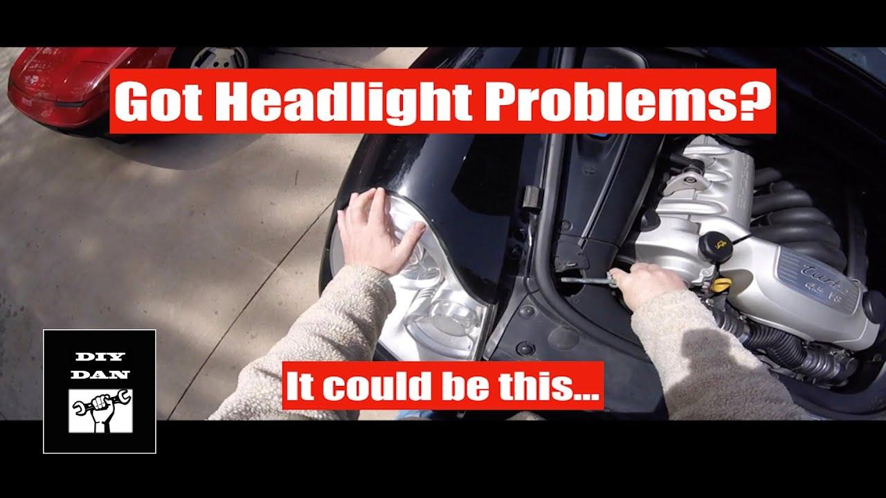 medium resolution of porsche cayenne replacing the headlight wiring harness