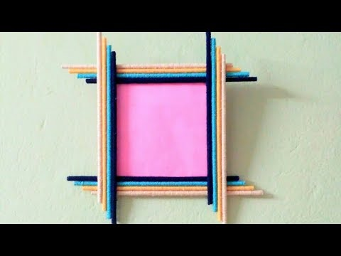 how to  Make Awesome Photo Frame Out Of Paper Sticks | Diy-Paper-Crafts | sama Crafts