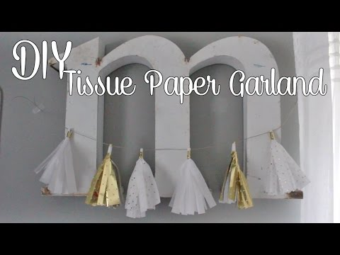 DIY | Tissue Paper Tassel Garland
