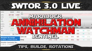 SWTOR 3.0+ ► Jedi Sentinel Watchman Guide (Marauder Annihilation) - Analysis, Tips, Gear, Rotations