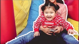 BABY REACTS TO HER BIRTHDAY PARTY!!!