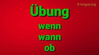 Übungen B1 B2 Sprachbausteine Wenn Wann Ob Telc Goethe Institut Zertifikat Grammatik