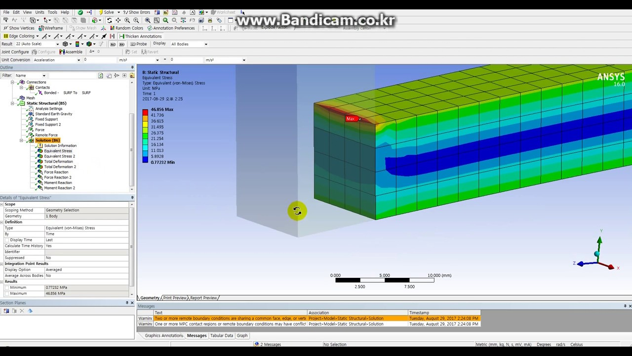Compare Remote force vs Force in ANSYS