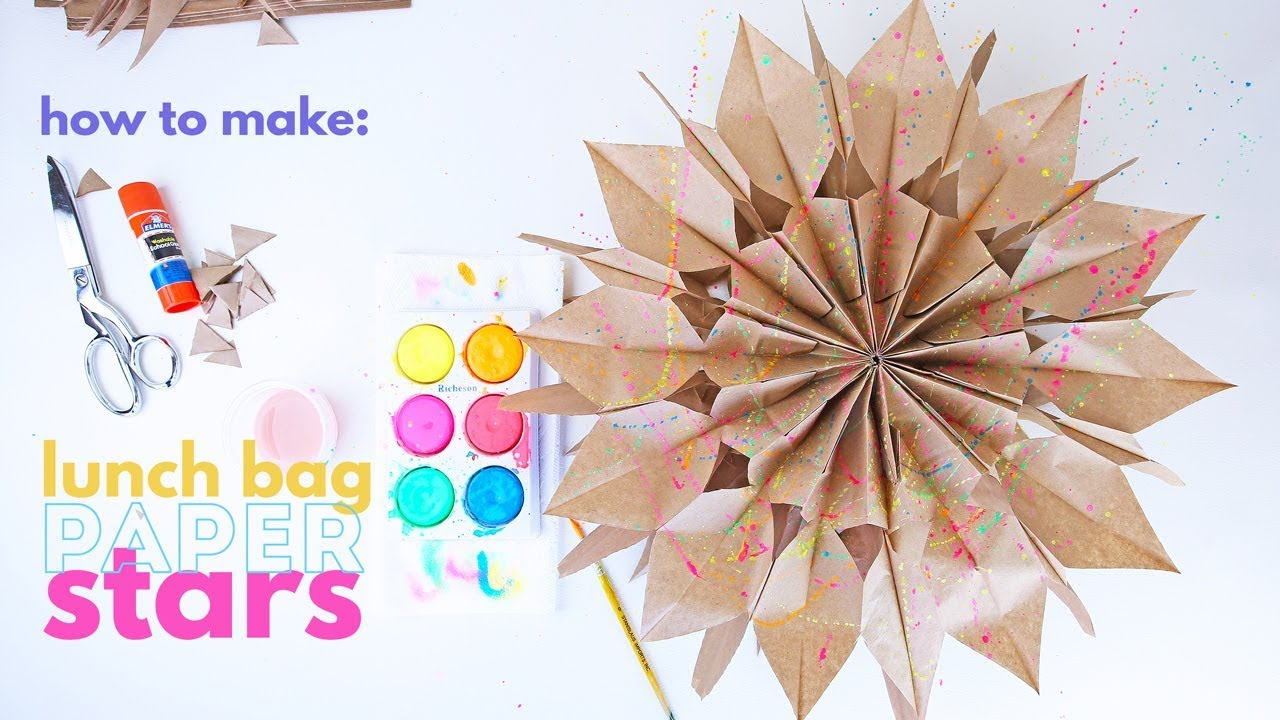How To Make Paper Stars From Lunch Bags