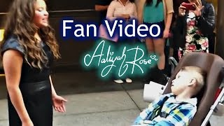 "Aaliyah Rose - Singing Acapella To Fans ""Who"