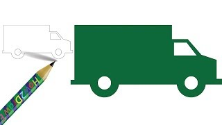 How to Draw a Covered Van | Easy Drawing - Coloring Pages