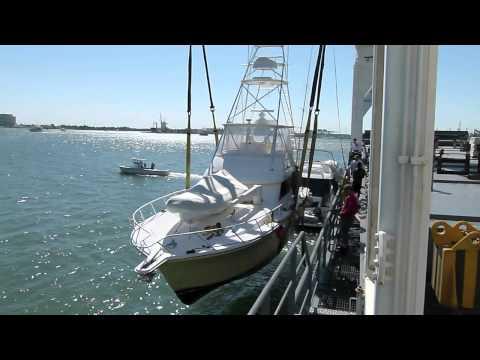 51 Riviera Loading on Deck