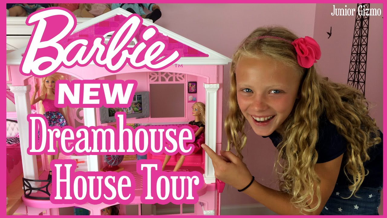 NEW Barbie Dreamhouse Full House Tour By Baby Gizmo   YouTube