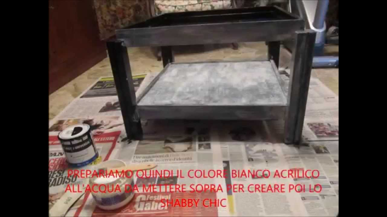 TUTORIAL TAVOLINO SHABBY CHIC - YouTube