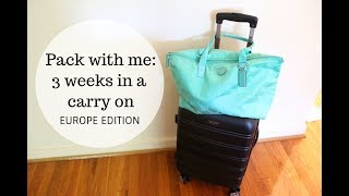 Pack With Me: 3 Weeks in a Carry On || Alina Trofimov