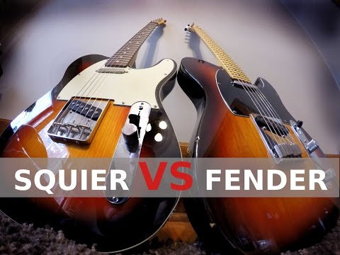 SQUIER vs FENDER - Telecaster Tone Comparison!
