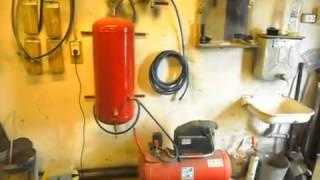 дополнительный ресивер к маленькому компрессору своими руками из старого бойлера