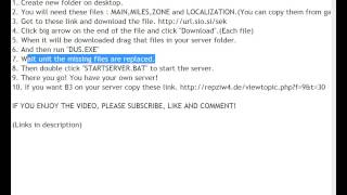 How to make Call of Duty: MW2 RepZ Server!