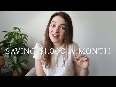 HOW I SAVE OVER $1,000 A MONTH | Minimalist Money Saving Tips