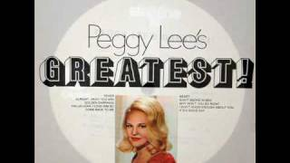 Peggy Lee: Hallelujah, I Love Him So (Charles) - Recorded March 28, 1959