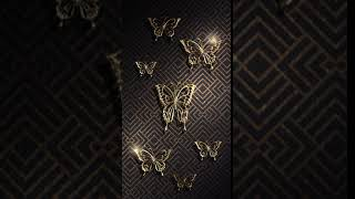 Black gold butterfly wallpaper screenshot 3