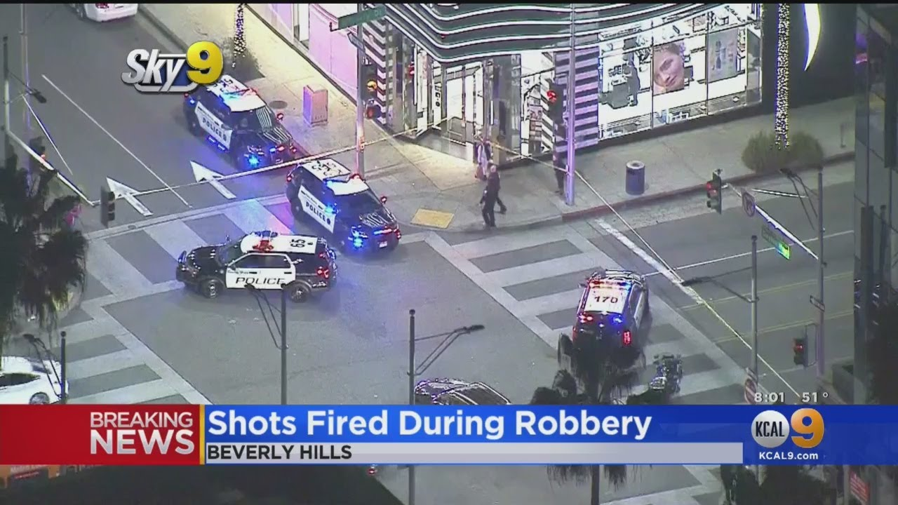 Police Searching For Suspect Who Allegedly Robbed Store, Fired Shots In Beverly Hills