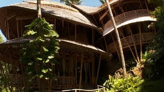 The bamboo homes of Bali