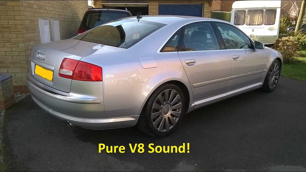 audi a8 4 2 v8 gopro 2004 modified exhaust youtube. Black Bedroom Furniture Sets. Home Design Ideas