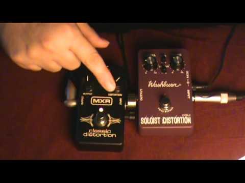 Washburn Soloist vs MXR Classic Distortion