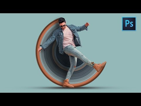 [ Photoshop Tutorial ] How to Create CIRCULAR STRETCH Effect in Photoshop thumbnail