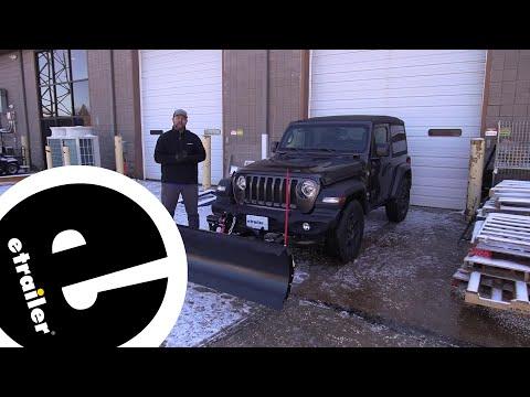Etrailer | Detail K2 Avalanche Snowplow Installation - 2018 Jeep JL Wrangler