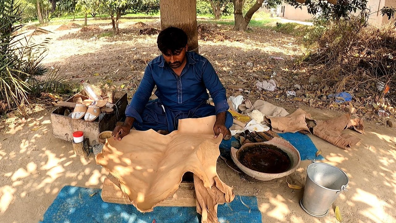 Experience the Indigenous Art of Crafting Pure Leather Shoes