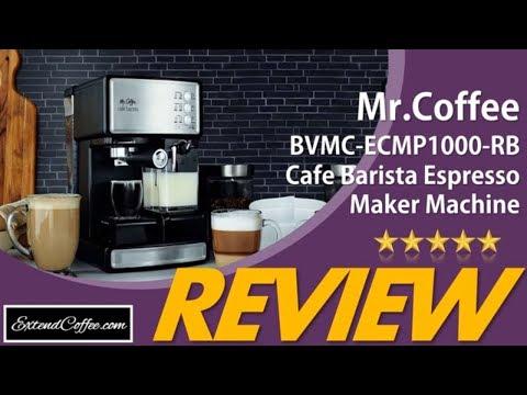 Mr. Coffee Cafe Barista Espresso Maker Review! Mr Coffee BVMC-ECMP1000-RB Barista Espresso  Review++