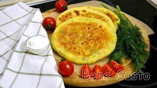 Хачапури с сыром на сковороде Быстрые хачапури на кефире