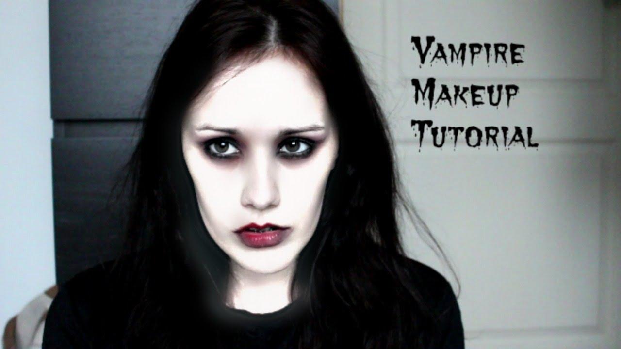 halloween vampire makeup tutorial youtube