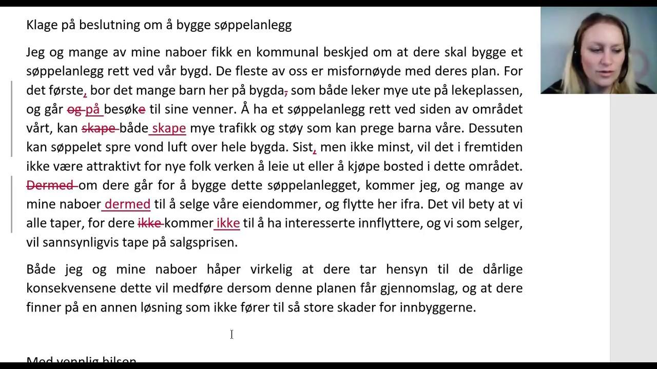norskprøve a2 eksempel