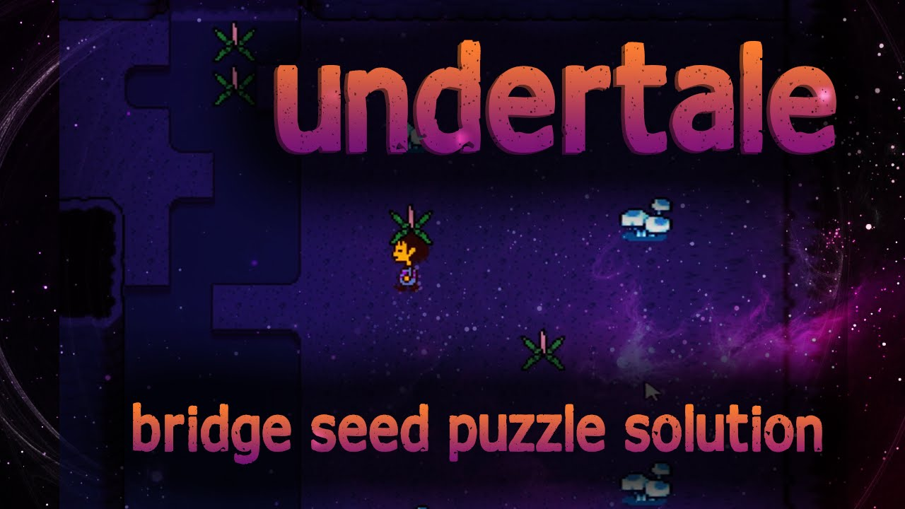 Undertale Waterfall Bridge Seed Puzzle Solution Youtube