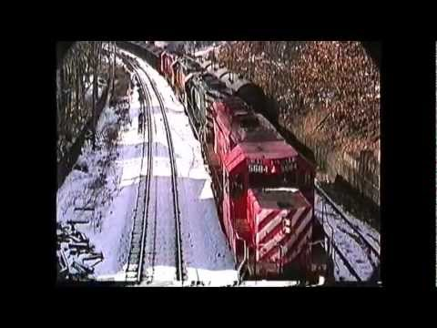 CP Rail powered Bow (NH) coal train Ayer,MA to Bow,NH  02/17/1991