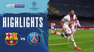 Barcelona 1-4 PSG | Champions League 20/21 Match Highlights