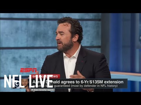 Aaron Donald Signs 6-year, 135 Million Dollar Deal With Rams | NFL Live | ESPN