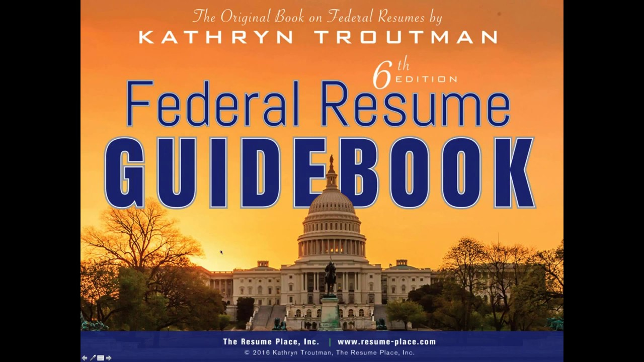 federal resume writing introduction and creating your first resume 45 min 2 11 16 8 02 am - The Resume Place