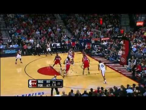 Nicolas Batum Dunks on Wizards