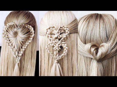 ❤️-6-easy-braided-heart-hairstyles-for-girls-❤️-braids-hairstyles-2020- -valentine's-day