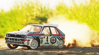 Sunset RALLY Action 2 || Tamiya TA01 Lancia Delta HF Integrale || Cinematic!!