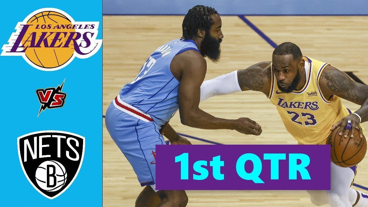 Download Los Angeles Lakers vs. Brooklyn Nets Full Highlights 1st Quarter | NBA Season 2021
