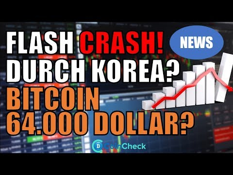 Flash Crash durch Südkorea? Bitcoin Ende 2019 64.000 Dollar! Krypto News
