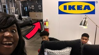 THEY SAID WE HAD TO LEAVE IKEA ... HIDE N SEEK FT. CHRIS AND TRAY