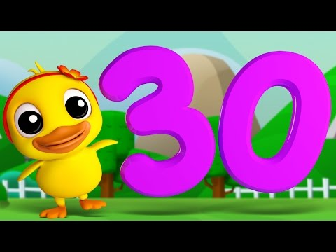 Numbers Song 1 to 30 | 3D Rhymes | Learning Number For Kids by Farmees S01E21