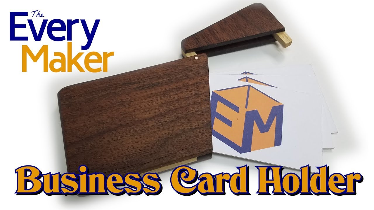 How to Make a Wooden Business Card Holder - YouTube