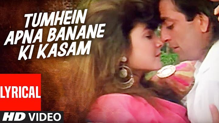tumhein apna banane ki kasam sadak  lyrical video  sanjay dutt pooja bhatt
